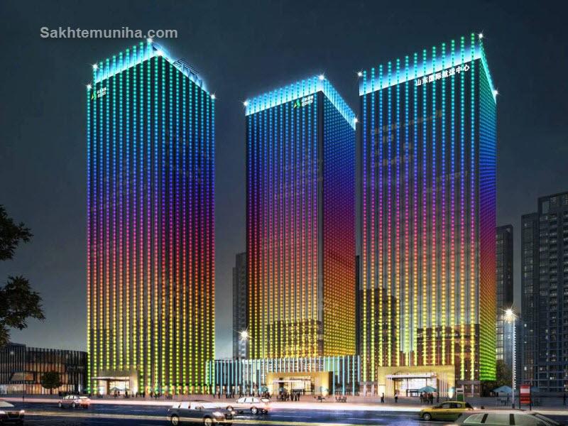 نورپردازی ساختمان و محوطه