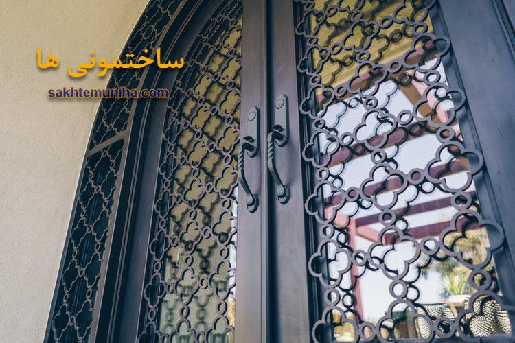 درب فرفورژه ساختمان | ساختمونی ها | درب ساختمان