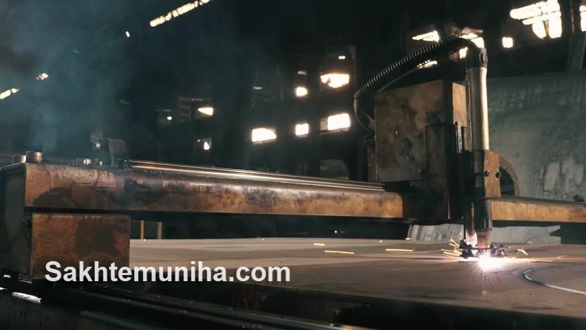 برشکاری آهن آلات - ساختمونی ها